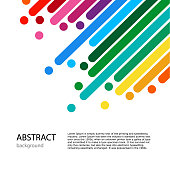 dynamic abstract vector color background. Light Cover with empty place for text. Color lines with bright dots.