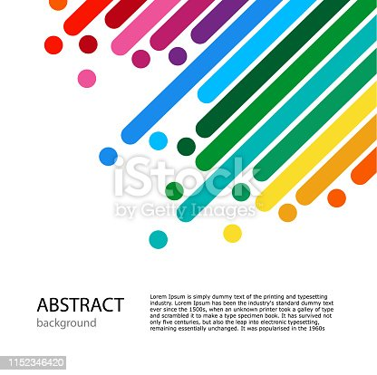 istock Cover with empty place for text. Color lines with bright dots. 1152346420