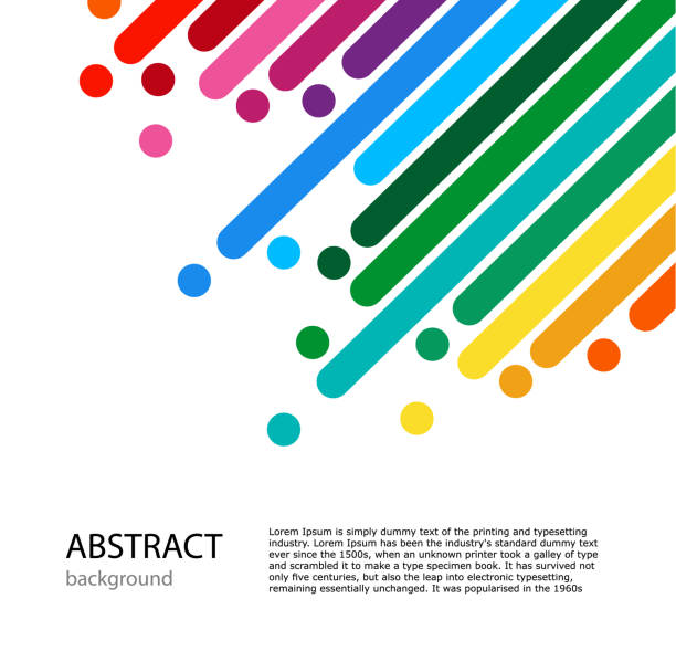 Cover with empty place for text. Color lines with bright dots. dynamic abstract vector color background. Light Cover with empty place for text. Color lines with bright dots. rainbow stock illustrations