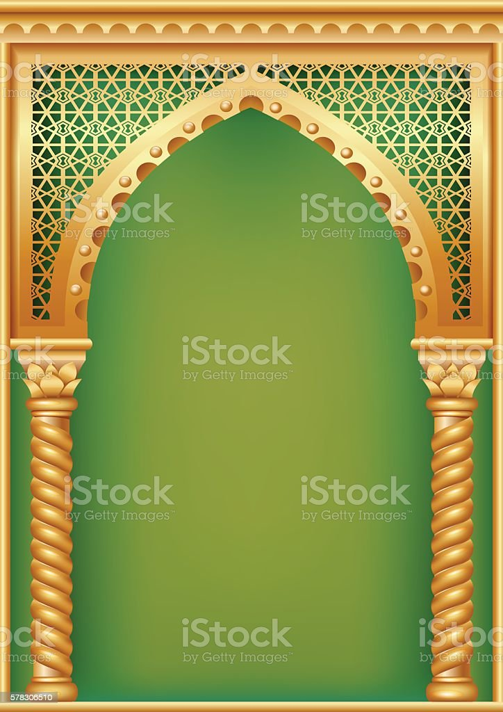 Cover with the Arab arch vector art illustration