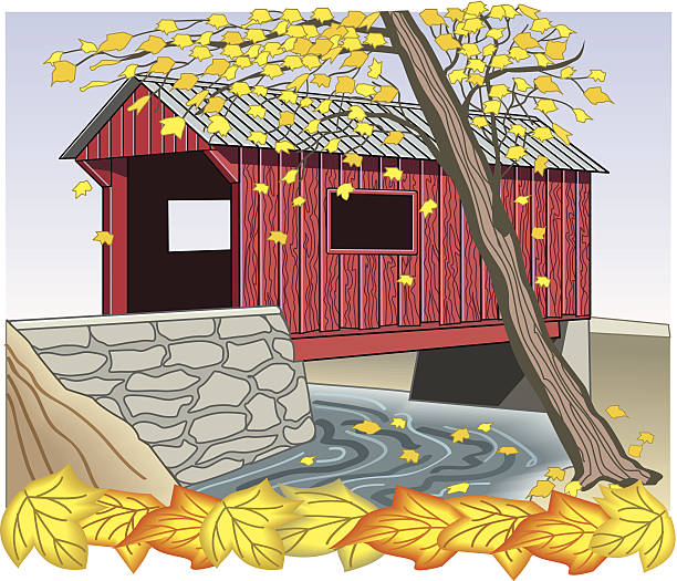 Top Covered Bridge Clip Art Vector Graphics And
