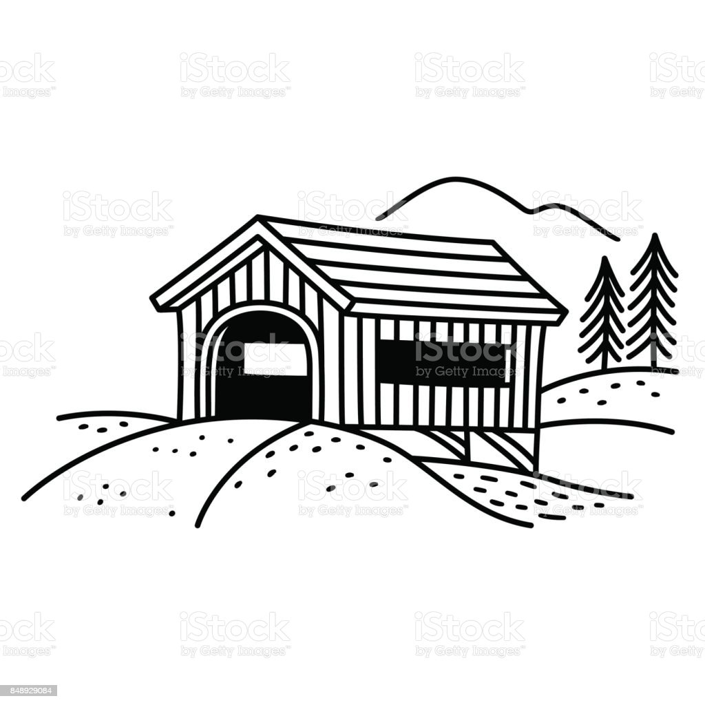 royalty free covered bridge clip art  vector images