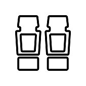 covering car mats with thrust bearings icon vector. covering car mats with thrust bearings sign. isolated contour symbol illustration