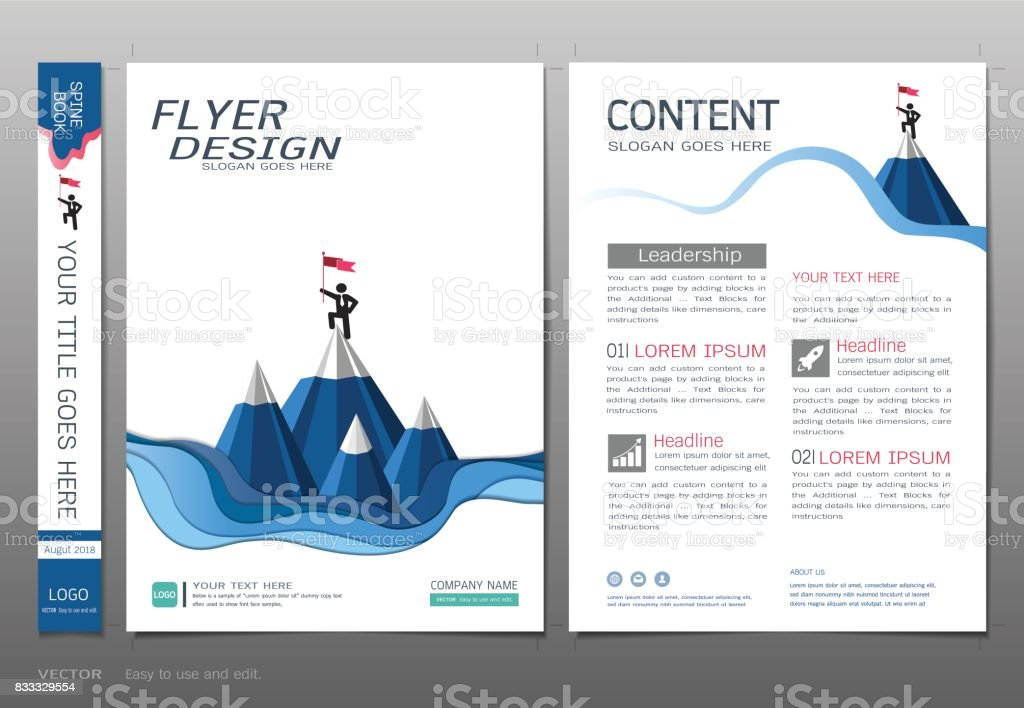 Covers Book Design Template Vector Business Startup Concept Use For