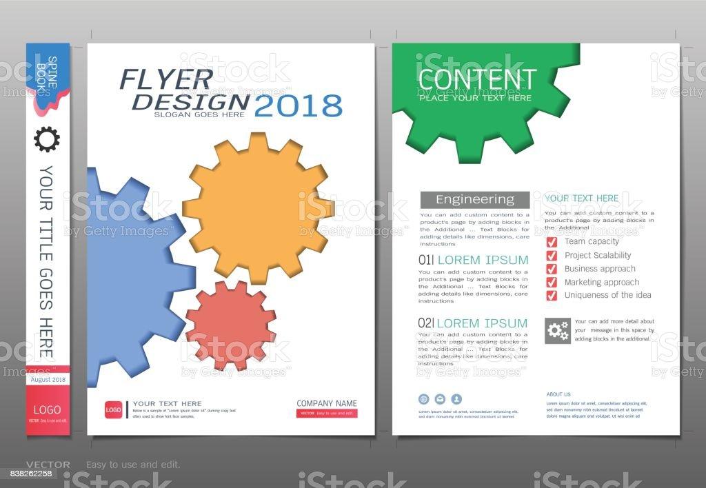 Ilustración de Tapas Libro Diseño Plantilla Vector Conceptos ...