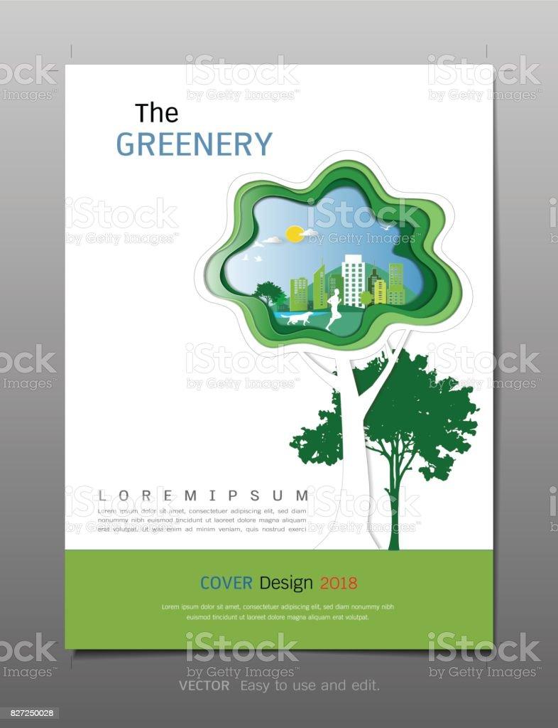 Cover Designvorlage Inspiration Für Grüne Energie Und Sparen ...