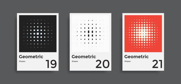 cover-vorlagen-sammlung mit geometrischen formen - bauhaus stock-grafiken, -clipart, -cartoons und -symbole
