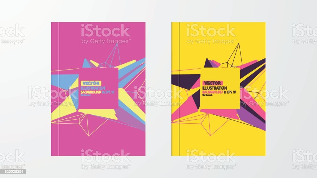 Covers with geometric pattern. Colorful backgrounds. Applicable for Banners, Placards, Posters, Flyers. Eps10 vector template. vector art illustration