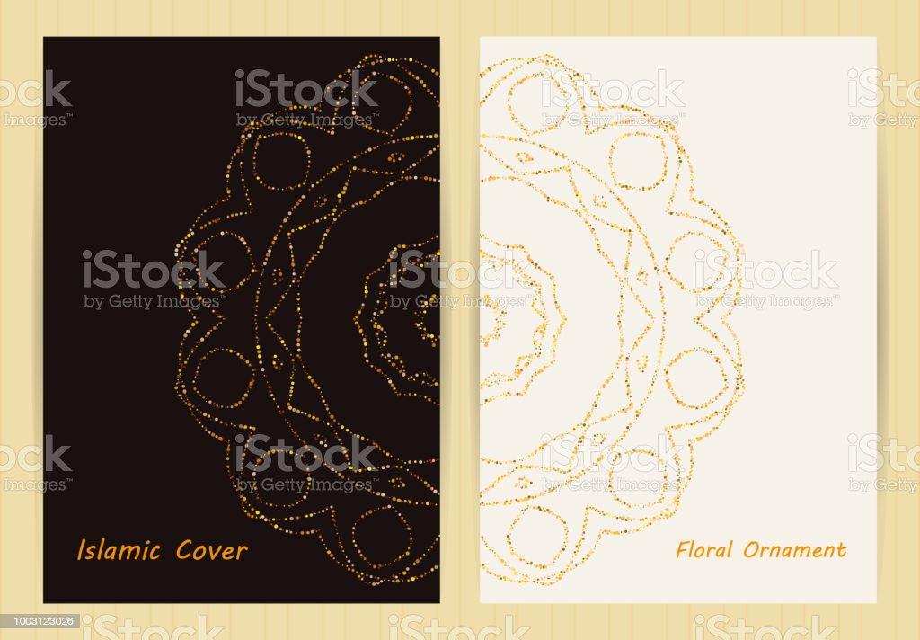 Couvertures Avec Mandala Groupes Ethniques Floraux Aux Couleurs Dores Style Japonais Arabe