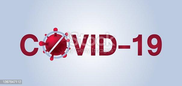 istock Covid 19, pandemic coronavirus symbol and icon vector illustration. covid-19 1267547112