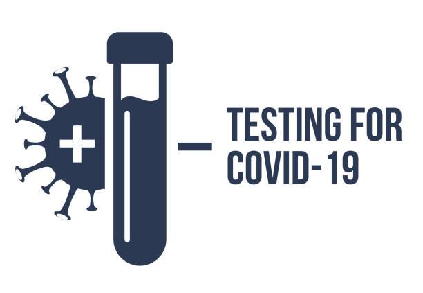 Covid pcr test vector icon. Corona virus covid19 tube test medical laboratory Covid pcr test vector icon. Corona virus covid19 tube test medical laboratory. nasal swab stock illustrations