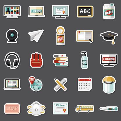 Covid-19 Back to School Sticker Set
