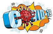 istock Covid-19 Comic Book Text 1223054154