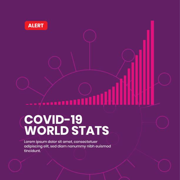 covid-19 corona virus weltweite statistiken flache vektor-illsutration - splash grafiken stock-grafiken, -clipart, -cartoons und -symbole