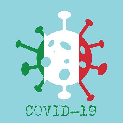 Covid-19. Coronavirus 2019-nCoV vector design. Wuhan virus in Italy. Web banner concept