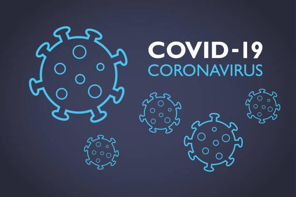 Fondo de Covid-19 Coronavirus - ilustración de arte vectorial