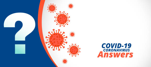 Covid-19 coronavirus questions and answers or help support banner Covid-19 coronavirus questions and answers or help support banner sudden acute respiratory syndrome stock illustrations