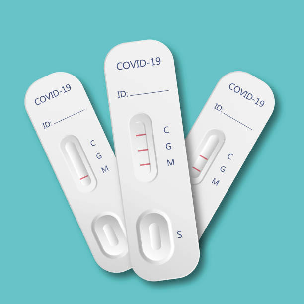 covid-19 medical test kits covid-19 medical test kits medical test stock illustrations