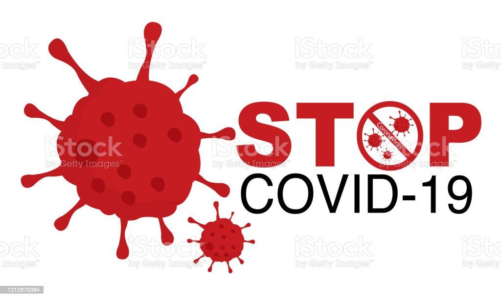 Covid19 Or Coronavirus Concept Stop Covid19 Sign And Symbol Vector ...