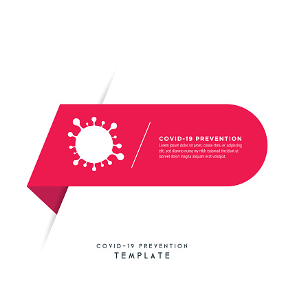 Covid-19 or Coronavirus infographics elements design. Abstract workflow stock illustration. Circle shape stock illustration