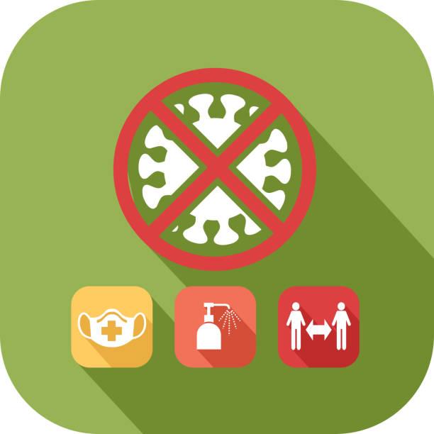 ilustrações de stock, clip art, desenhos animados e ícones de covid-19 precautionary icon - gesticular
