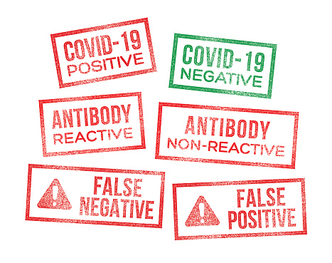 Covid-19 Test Results Coronavirus Rubber Stamps