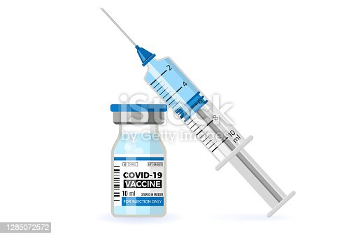 istock Covid-19 Vaccine and Syringe Injection 1285072572
