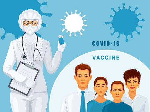 Covid-19 vaccine. Coronavirus STOP.