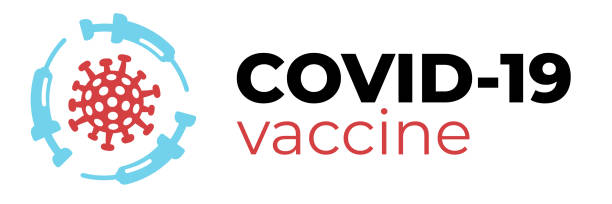 Covid-19 vaccine or cure logo concept with syringes about time when coronavirus 2019-nCoV is defeated, medical victory over corona virus. Flat vector illustration for headers, posters, flyers. Covid-19 vaccine or cure logo concept with syringes about time when coronavirus 2019-nCoV is defeated, medical victory over corona virus. Flat vector illustration for headers, posters, flyers. covid vaccine stock illustrations