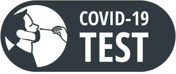 Covid-19 virus swab test icon Covid-19 virus nasal swab test vector icon nasal swab stock illustrations