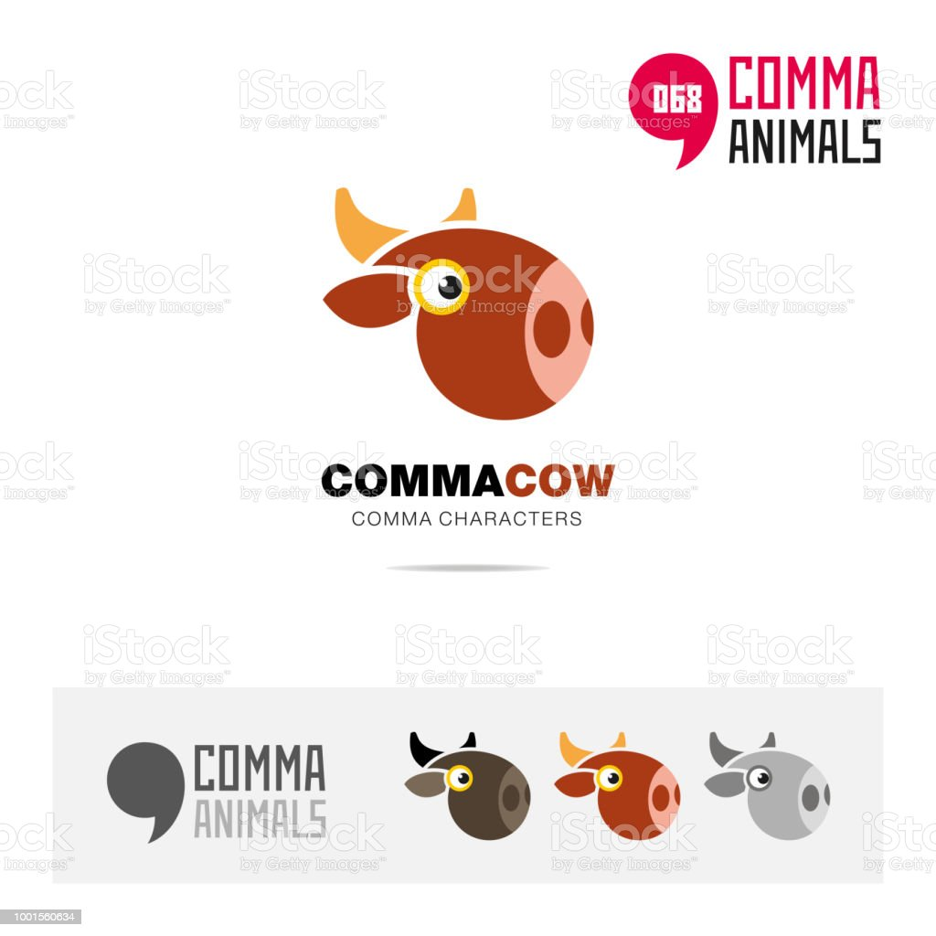 Cow Animal Concept Icon Template For Modern Brand Identity And App