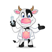 Cow cartoon illustration can be download in vector format for unlimited image size