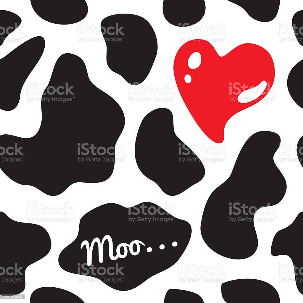 Cow background seamless vector illustration vector art illustration