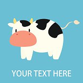 Cow Cartoon graphic for kids
