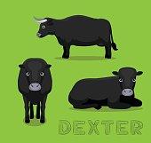 Cow Dexter Cartoon Vector Illustration