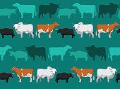 Cow Dexter Seamless Wallpaper