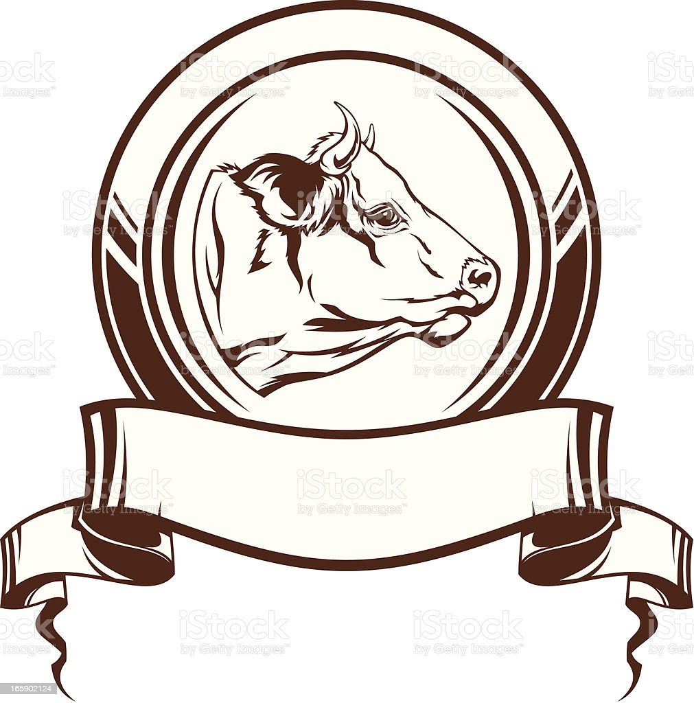 Cow emblem royalty-free cow emblem stock vector art & more images of agriculture