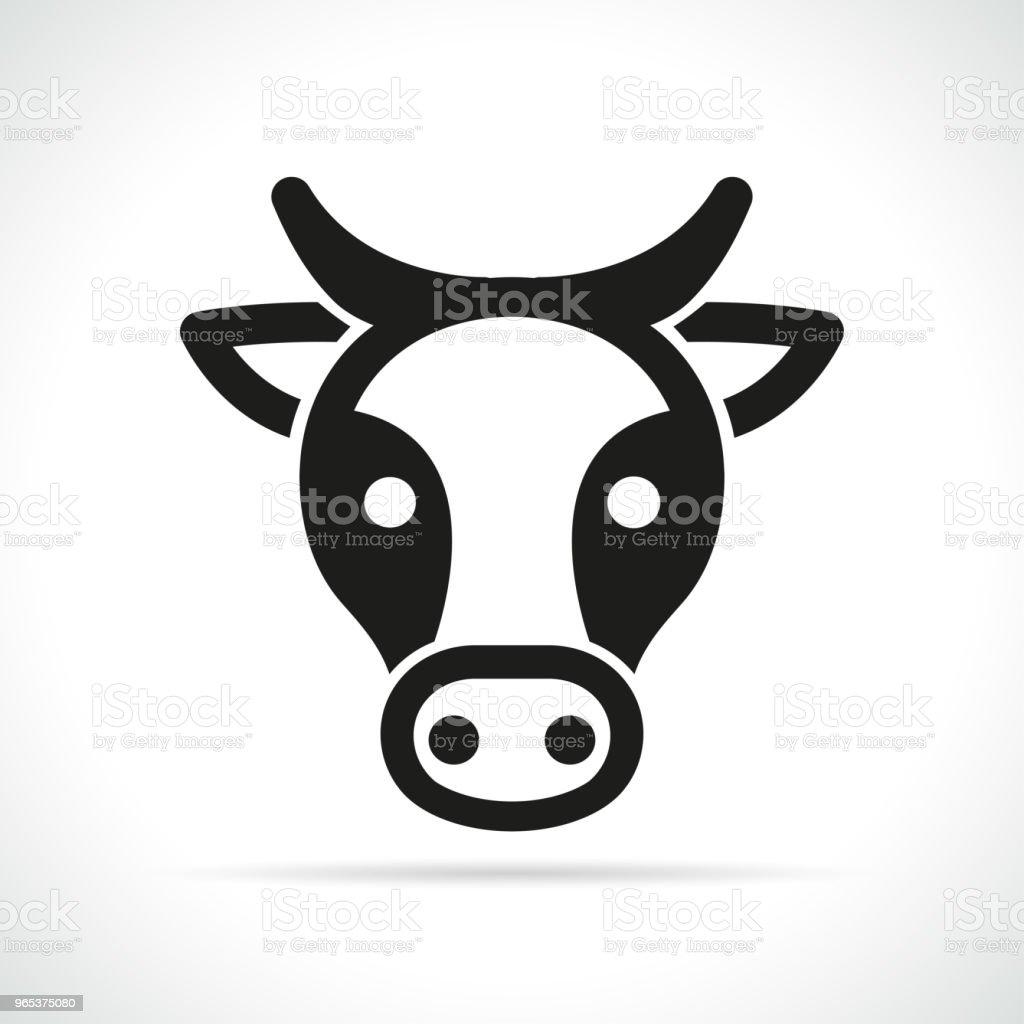 cow head icon on white background cow head icon on white background - stockowe grafiki wektorowe i więcej obrazów białe tło royalty-free