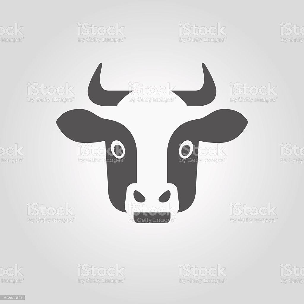 Cow head icon.