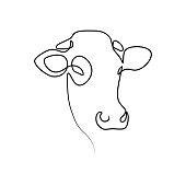 istock Cow head 1223584662