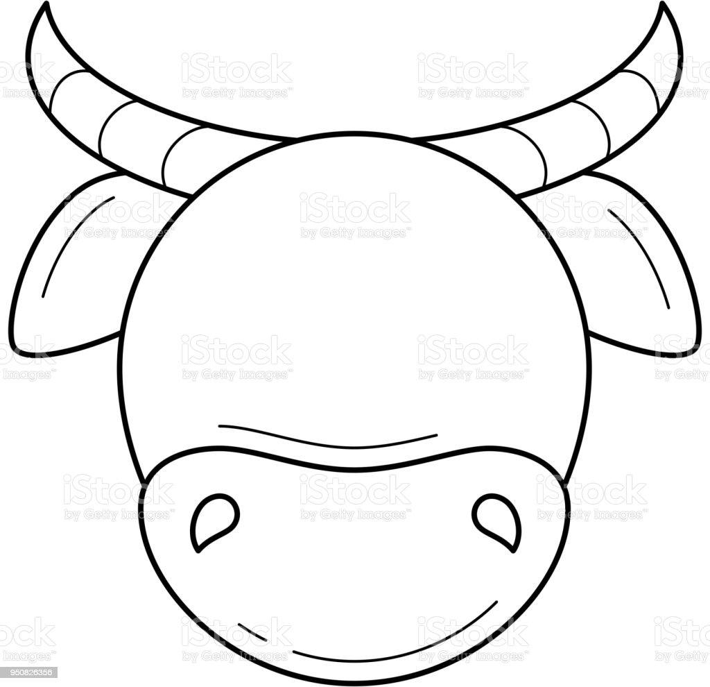 Ilustración de Icono De Línea De Vector De Cabeza De Vaca y más ...