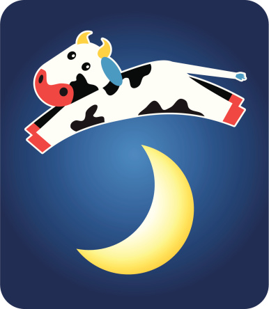 Cow Jumping Over The Moon Stock Illustration - Download Image Now