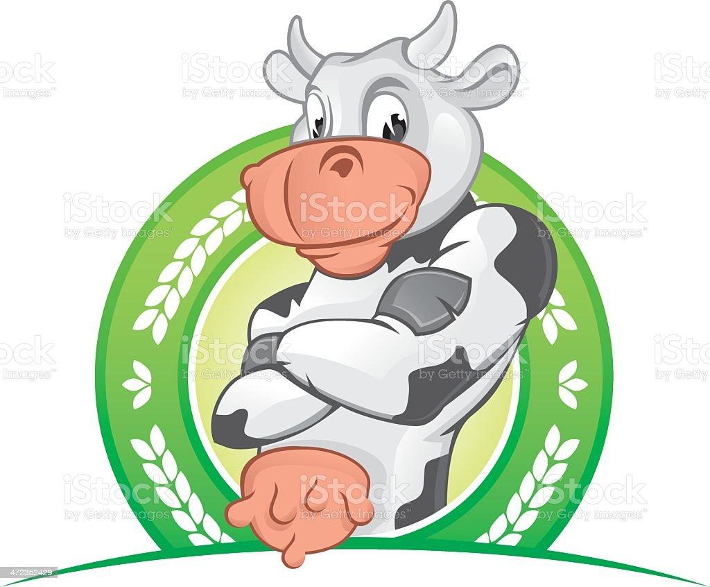Cow mascot royalty-free stock vector art