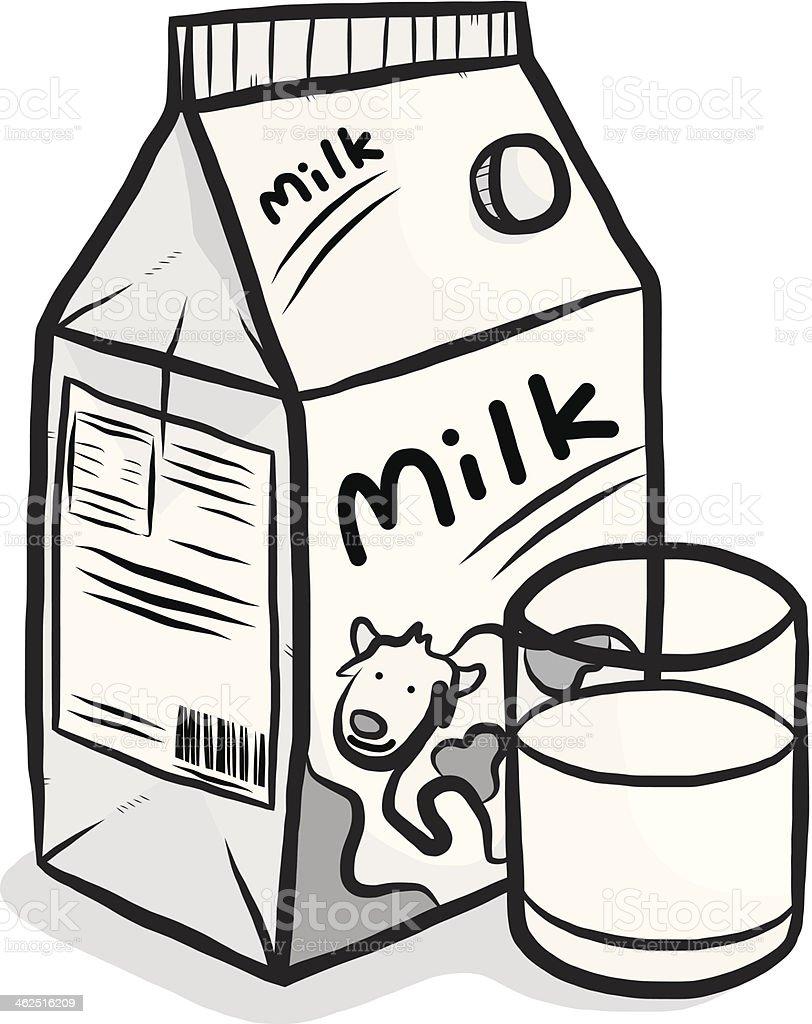 cow milk carton box and glass stock vector art 462516209 istock