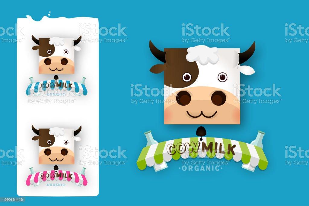 cow milk farm logo design vector template stock vector art more
