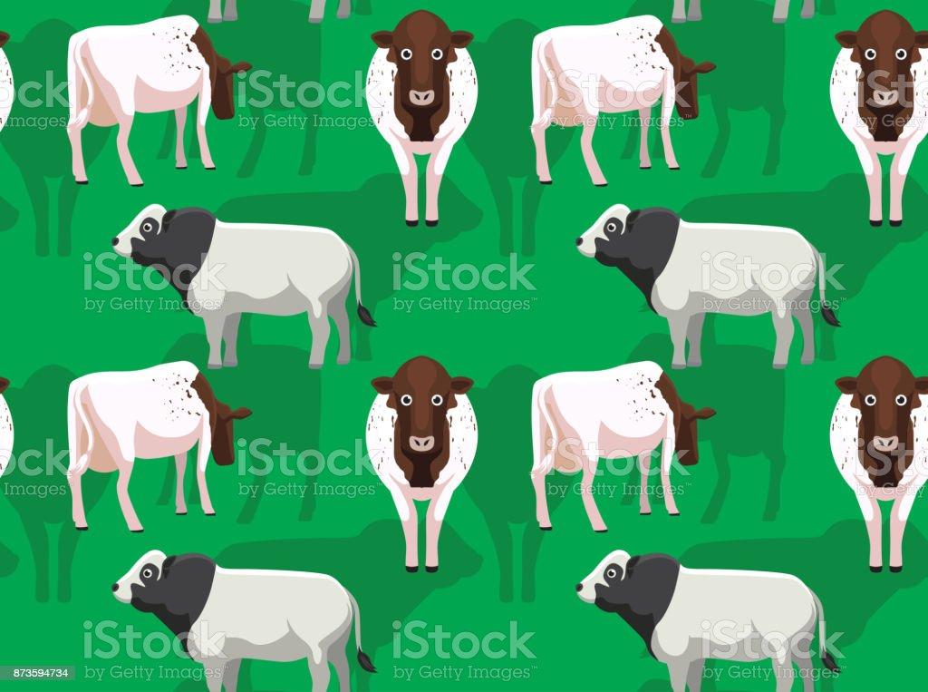 Cow Milking Shorthorn Cartoon Seamless Wallpaper Stock Vector Art