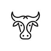 istock Cow or bull logo 1267489905