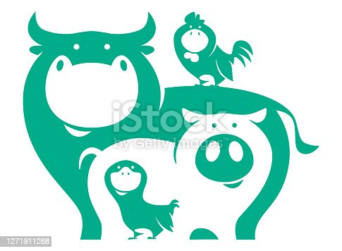 istock cow pig chicken duck symbol 1271911268