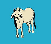 cow is a domestic animal ,All elements are in separate layers color can be changed easily .