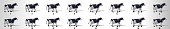 Walking Cow animation sequence, loop animation sprite sheet
